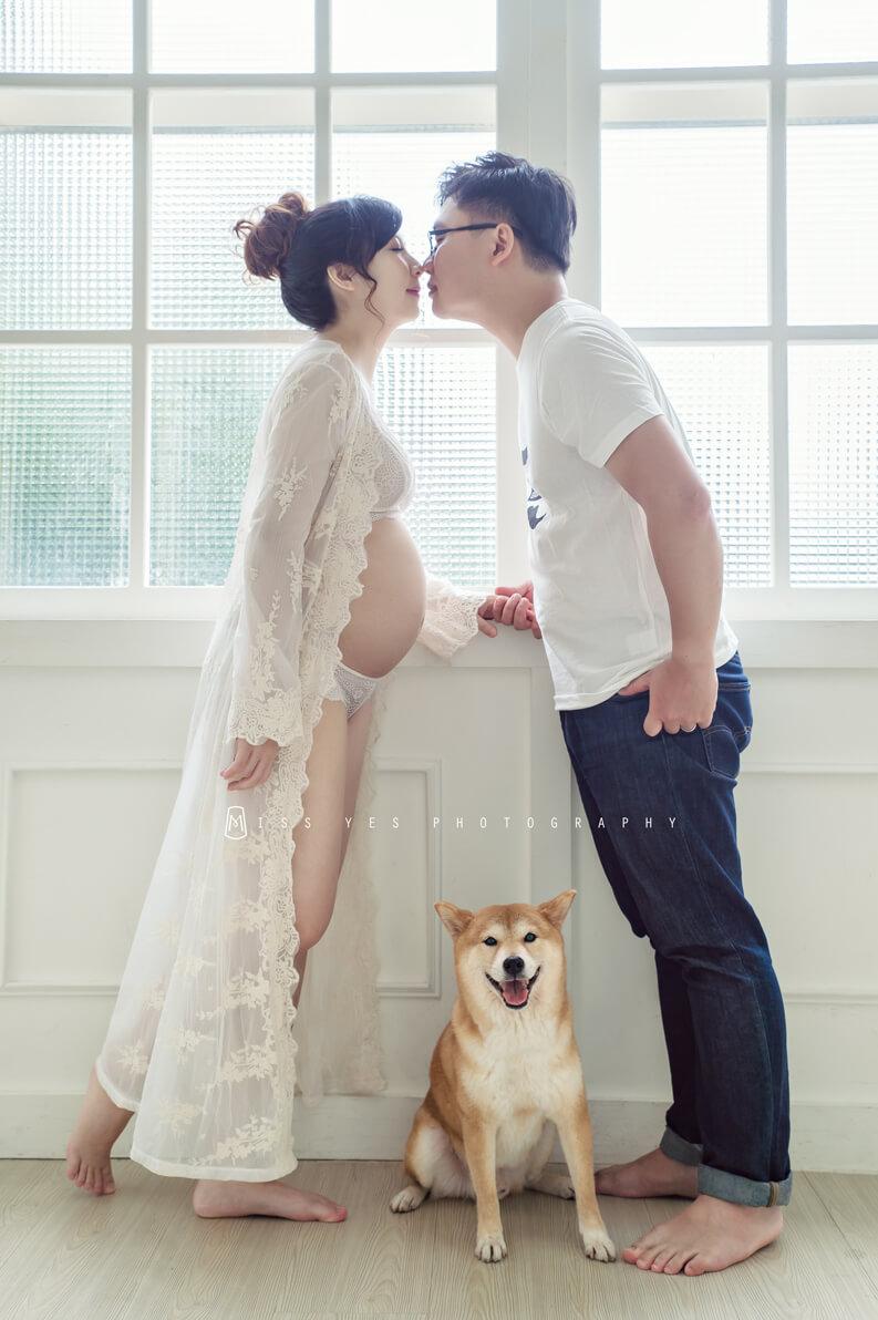 孕婦寫真,懷孕,孕媽咪,柴柴,毛小孩